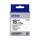 【高士資訊】EPSON 18mm LK-5WB2 磁鐵 白底黑字 原廠 盒裝 防水 標籤帶