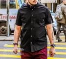 FINDSENSE Z1 日系 大尺碼 時尚 街頭 潮 男裝 短袖襯衫 純色素面