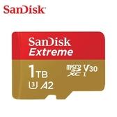 SanDisk Extreme microSDXC 1TB V30, U3, C10, A2, UHS-I 記憶卡