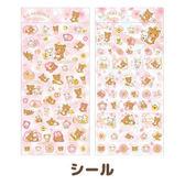 Hamee 日本正版 San-X 拉拉熊 懶懶熊 春日櫻花 金箔和紙 造型貼紙 裝飾DIY (任選) SE34101