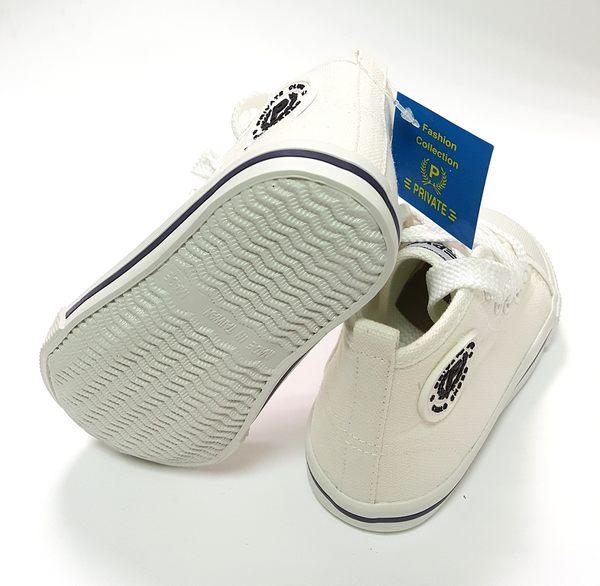 中童 專櫃普萊米 MIT 寶寶高筒帆布鞋《7+1童鞋》D248白色