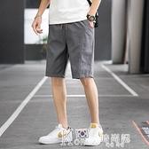 七分褲 男士短褲夏季純棉薄款直筒寬鬆運動褲休閒馬褲沙灘五分褲子大褲衩