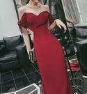 (45 Design) 長洋裝晚禮服禮服晚宴長禮服e黑色長禮服伴娘服中長禮長裙婚禮洋裝13