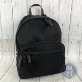 BRAND楓月 PRADA 2VZ066 黑色 尼龍 大容量 雙肩包 後背包 電腦包 附名牌