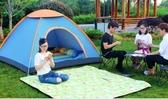 帳篷 帳篷戶外3-4人全自動加厚防雨二室一廳2人雙人野營露營帳篷套餐NMS 果果生活館