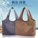 托特包-帆布包女包2021新款百搭簡約休閒文藝托特女士單肩包大容量大包包