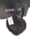 【雪曼國際精品】CHANEL 香奈兒 羊毛混雷克斯兔毛(黑色)保暖耳罩(未使用)~現貨