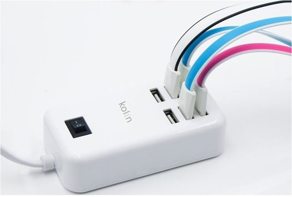 【kolin歌林】7A 6埠USB電源供應器 KEX-SHAU21