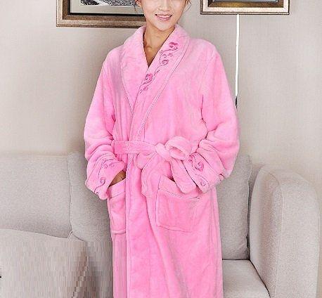 高檔法蘭絨睡袍D120