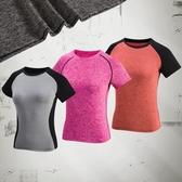 阿妮絲網紅瑜伽服健身服女 跳操跑步瑜伽上衣運動短袖T恤短袖上裝 限時85折
