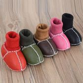 寶寶鞋襪 新生嬰兒鞋襪冬皮毛一體加絨保暖0-6-12個月寶寶軟底不掉男女棉鞋 快樂母嬰