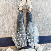 女童牛仔褲 2019秋季新款時髦洋氣直筒褲寬鬆休閒褲女 YN1175『易購3c館』