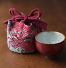 茶壺茶具茶杯收納包旅行包布袋海浪紋布包
