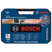 BOSCH 103 件鍍鈦鑽頭專業配件套裝