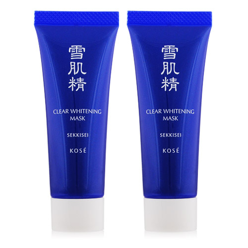KOSE 高絲 雪肌精淨白黑面膜(25G)X2[50g]【美麗購】
