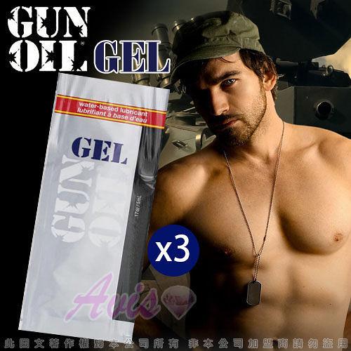 按摩潤滑油 情趣用品美國 Empowered Products-GUN OIL GEL水溶性潤滑凝膠 5ml-3入
