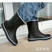 防水鞋 男女雨鞋釣魚中筒水靴高爾夫套鞋輕便情侶工作鞋 QQ7155『東京衣社』