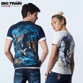 Big Train 藍海鯨王圓領短袖女T-女B85273