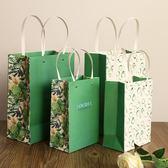 尾牙年貨節5個森系禮品袋紙袋大號生日禮物包裝袋子節慶回禮禮物袋服裝手提袋子2色gogo購