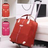 旅行包拉桿包女行李包袋短途旅游出差包大容量輕便手提拉桿登機包 鹿角巷YTL