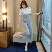 兩件式褲裝 夏裝套裝時尚減齡氣質小香風顯高寬管褲兩件套女洋氣雪紡-Ballet朵朵