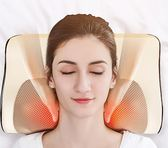 頸椎按摩器頸部多功能腰部全身電動枕頭脖子肩部肩頸背部家用靠墊 小巨蛋之家