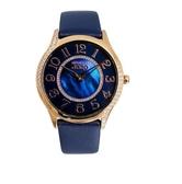 NATURALLY JOJO 奢華皮革手錶 JO96941-54R 藍