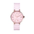 HELLO KITTY 凱蒂貓優雅陶瓷手錶-粉紅