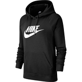 Nike AS W NSW ESSNTL HOODIE [BV4127-010] 女 運動 連帽 長袖 上衣 棉柔 黑