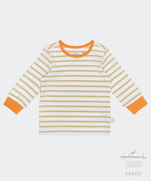 【特惠6折】Hallmark Babies 大地色條紋休閒上衣 HD1-W05-03-BU-NI