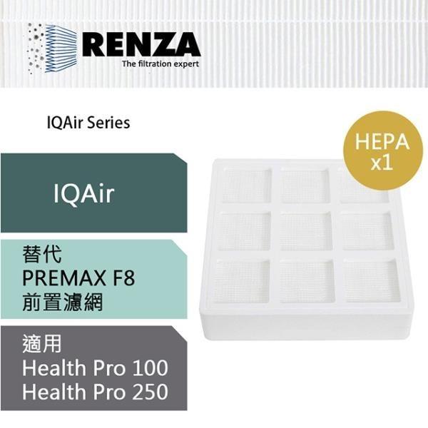 【南紡購物中心】RENZA濾網 適用IQAir Health Pro 100 250  PreMax F8 HEPA前置 空氣清淨機 濾心