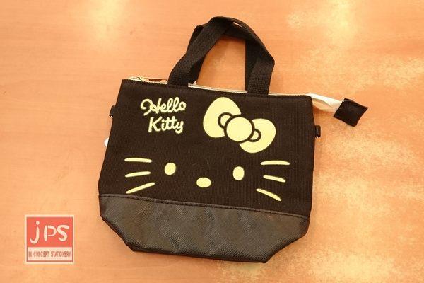 Hello Kitty 凱蒂貓 3C可提觸控包 收納包 手提包 大臉 黑 664694