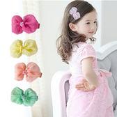 泡泡蝴蝶結布藝髮夾 兒童髮飾 造型髮夾