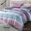 【BEST寢飾】60支天絲床包兩用被四件式 特大6x7尺 若伊-綠 100%頂級天絲 萊賽爾 附正天絲吊牌