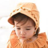 新生嬰兒帽子秋冬女寶寶宮廷帽子兒童帽子嬰兒秋季帽子男童帽子秋 薇薇