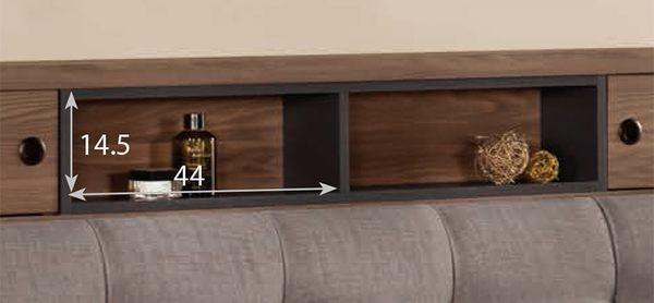 【森可家居】約克5尺被櫥頭(不含床底) 8CM563-8 雙人床頭箱 北歐工業風
