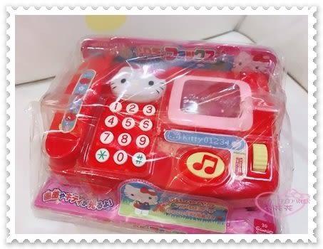 ♥小花花日本精品♥ Hello Kitty 電話玩具 音樂鈴 鈴聲 兒童玩具 安全玩具 紅色 88609300