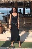 Duan-Style孕婦可穿大彈力包身莫代爾棉黑色連身背心裙D892Mandyc