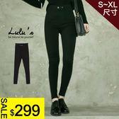 LULUS特價-A雙釦窄管長褲S-XL-黑  現+預【04051424】