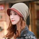 頭巾帽 包頭帽女春秋冬薄款產後月子帽時尚韓版百搭純棉針織化療光頭帽子 夢藝