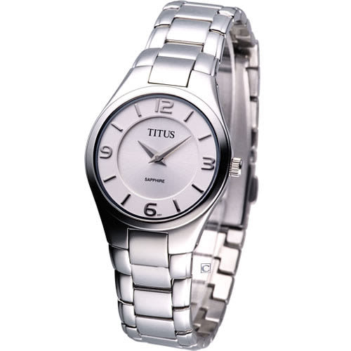 TITUS 鐵達時 經典時尚女用腕錶-銀白色 06-1809-001
