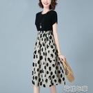 大碼洋裝連身裙女新款夏寬鬆收腰顯瘦氣質休閒流行智熏裙法式桔梗裙子 快速出貨