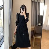 長袖洋裝-大碼鏤空蕾絲拼接女連身裙74az27[巴黎精品]