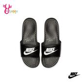 NIKE BENASSI JDI 成人男女款 拖鞋運動拖鞋浴室室內室外防滑舒緩情侶鞋 P7254#黑色◆OSOME奧森鞋業