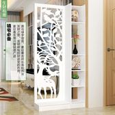 屏風隔斷客廳玄關櫃現代時尚移動門廳裝飾櫃鏤空雕花櫥窗背景 NMS 滿天星