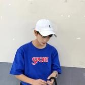 原宿風帽子夏天鴨舌帽男帽子時尚潮韓版戶外太陽帽A字母棒球帽男