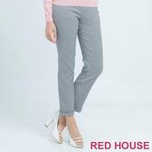 RED HOUSE-蕾赫斯-細格紋長褲(黑色)
