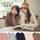 Queen Shop【01110416】素面落肩連帽衛衣 五色售*現+預*