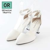 【ORiental TRaffic】時尚尖頭繞踝瑪麗珍鞋-氣質白