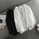 ★短款純色披肩防曬衣寬鬆外套空調衫外搭~...
